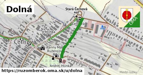 ilustrácia k Dolná, Ružomberok - 235m