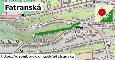 ilustrácia k Fatranská, Ružomberok - 301m