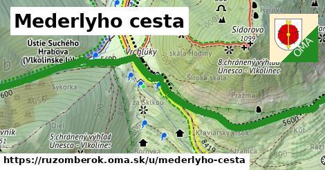 ilustrácia k Mederlyho cesta, Ružomberok - 1,51km