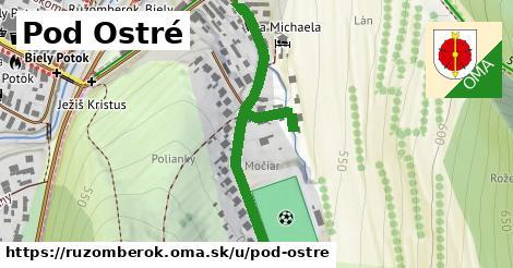 ilustračný obrázok k Pod Ostré, Ružomberok