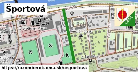 ilustrácia k Športová, Ružomberok - 294m