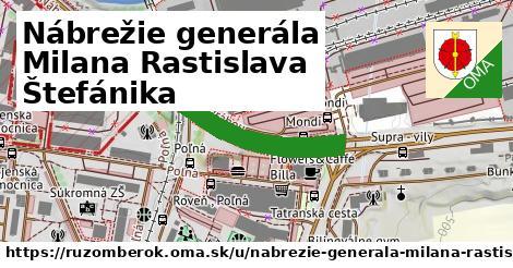 ilustrácia k Nábrežie generála Milana Rastislava Štefánika, Ružomberok - 2,8km