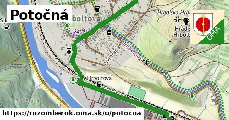 ilustrácia k Potočná, Ružomberok - 1,60km