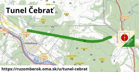 ilustrácia k Tunel Čebrať, Ružomberok - 4,9km