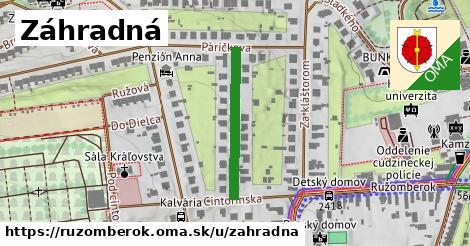 ilustračný obrázok k Záhradná, Ružomberok