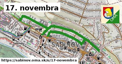 ilustrácia k 17. novembra, Sabinov - 1,78km
