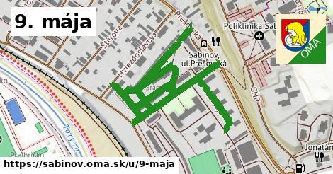 ilustrácia k 9. mája, Sabinov - 1,33km