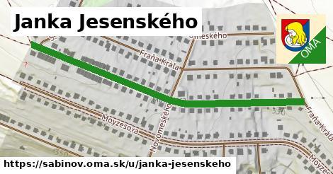 ilustračný obrázok k Janka Jesenského, Sabinov