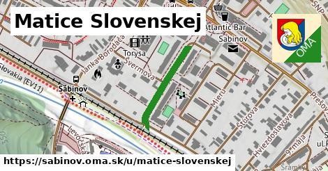 ilustrácia k Matice Slovenskej, Sabinov - 205m