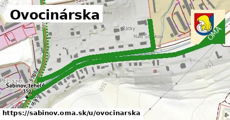 ilustrácia k Ovocinárska, Sabinov - 636m