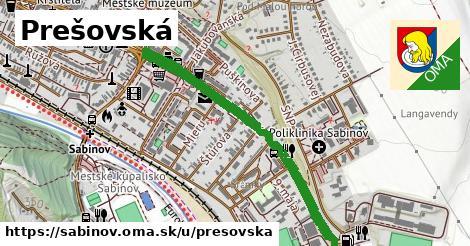 ilustrácia k Prešovská, Sabinov - 1,03km