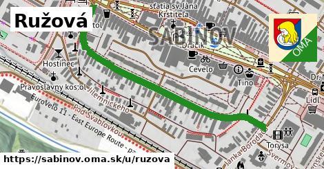 ilustrácia k Ružová, Sabinov - 579m