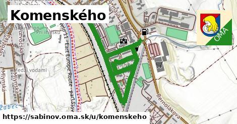 ilustrácia k Komenského, Sabinov - 1,63km