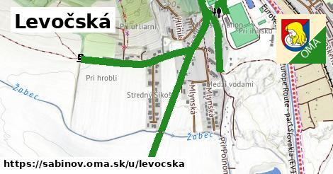 ilustrácia k Levočská, Sabinov - 521m