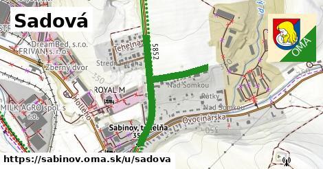 ilustrácia k Sadová, Sabinov - 1,07km