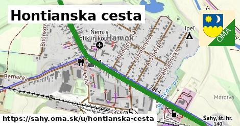 ilustrácia k Hontianska cesta, Šahy - 1,29km