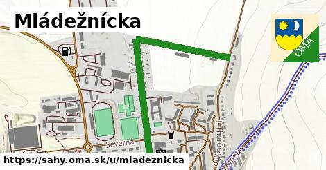 ilustrácia k Mládežnícka, Šahy - 1,16km