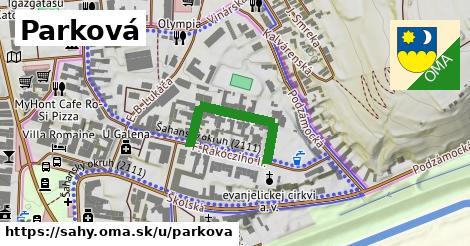 ilustrácia k Parková, Šahy - 254m