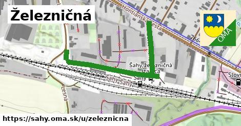 ilustrácia k Železničná, Šahy - 508m