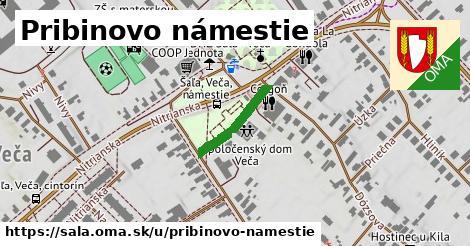 ilustrácia k Pribinovo námestie, Šaľa - 124m
