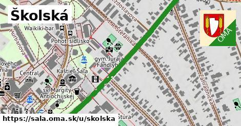 ilustrácia k Školská, Šaľa - 358m