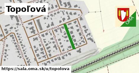ilustrácia k Topoľová, Šaľa - 145m