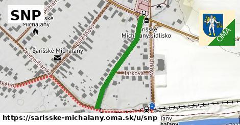 ilustrácia k SNP, Šarišské Michaľany - 320m