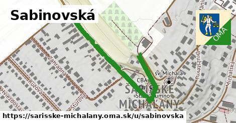 ilustrácia k Sabinovská, Šarišské Michaľany - 1,19km