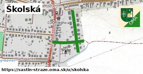 ilustrácia k Školská, Šaštín-Stráže - 166m
