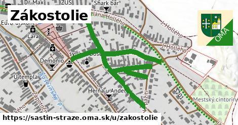 ilustrácia k Zákostolie, Šaštín-Stráže - 650m