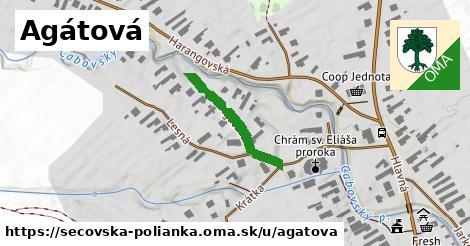 ilustrácia k Agátová, Sečovská Polianka - 214m
