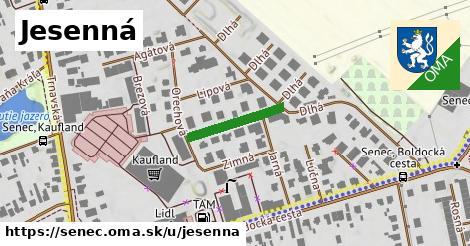 ilustrácia k Jesenná, Senec - 161m