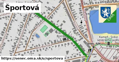 ilustrácia k Športová, Senec - 463m