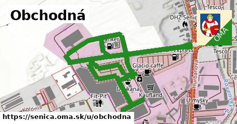 ilustrácia k Obchodná, Senica - 495m