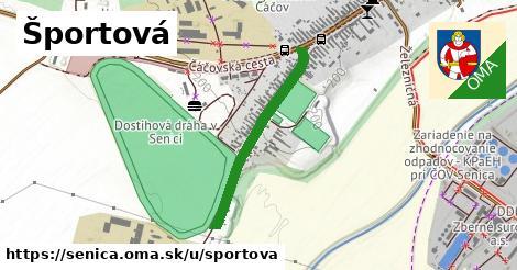 ilustrácia k Športová, Senica - 587m