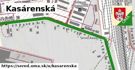 ilustrácia k Kasárenská, Sereď - 0,89km