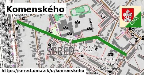 ilustračný obrázok k Komenského, Sereď