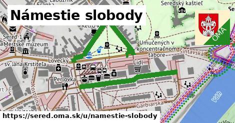 ilustrácia k Námestie slobody, Sereď - 498m
