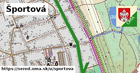 ilustrácia k Športová, Sereď - 1,36km