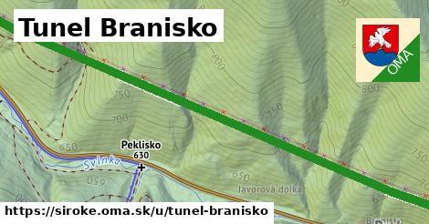 ilustrácia k Tunel Branisko, Široké - 2,5km