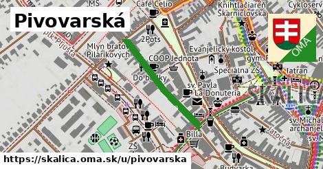 ilustrácia k Pivovarská, Skalica - 262m