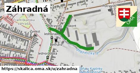 ilustrácia k Záhradná, Skalica - 233m