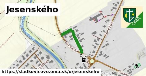 ilustračný obrázok k Jesenského, Sládkovičovo