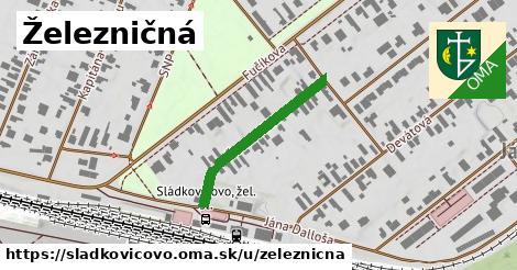ilustrácia k Železničná, Sládkovičovo - 266m