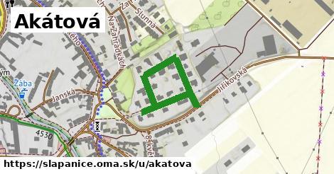 ilustrácia k Akátová, Šlapanice - 391m