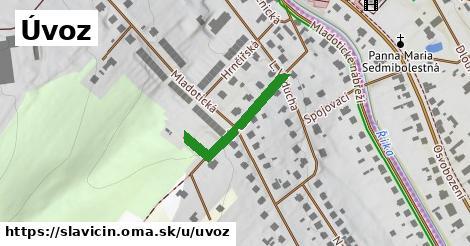 ilustrácia k Úvoz, Slavičín - 223m