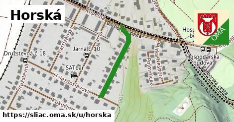 ilustrácia k Horská, Sliač - 255m