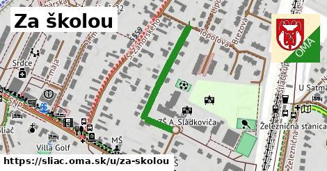 ilustračný obrázok k Za školou, Sliač
