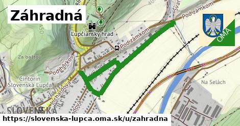 ilustrácia k Záhradná, Slovenská Ľupča - 1,12km