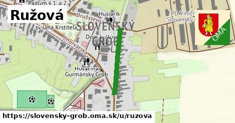 ilustrácia k Ružová, Slovenský Grob - 217m